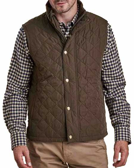 Yellowstone John Dutton Brown Quilted Vest