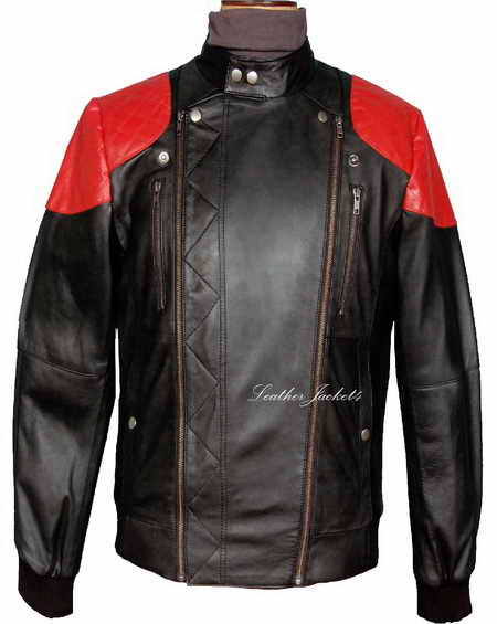 Surface to Air - KID CUDI FIRE Leather Jacket Replica