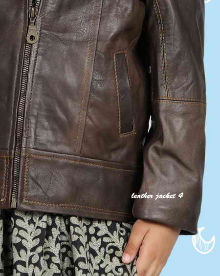 Kiddie leather jacket for girls