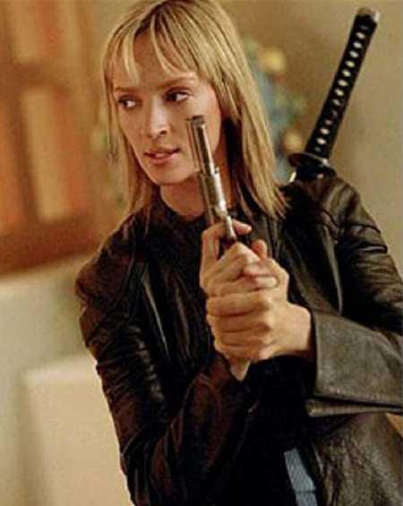 Kill Bill 2 Uma Thurman Distressed Leather Jacket