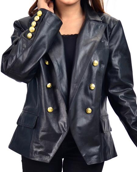 Paris Kim Kardashian Leather Blazer
