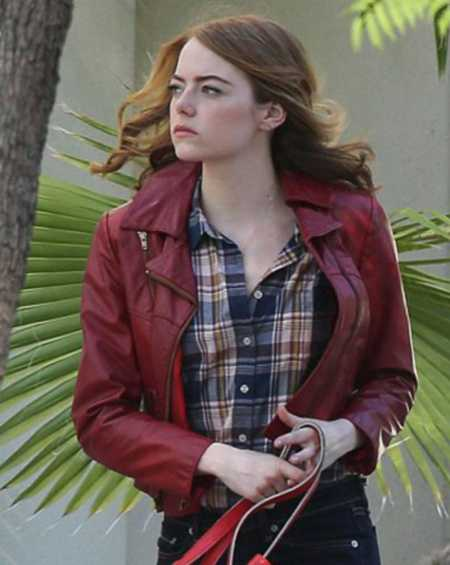 Mia La La Land Emma Stone Leather Jacket