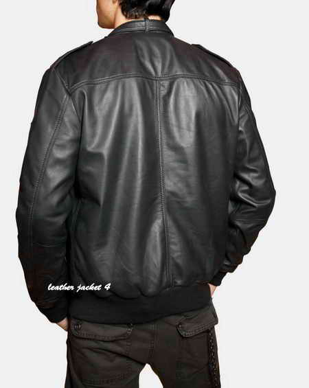 Full grain lambskin leather jacket