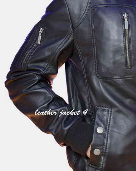 Full grain lambskin leather jacket
