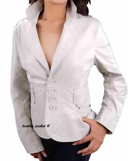 Single brace leather blazer