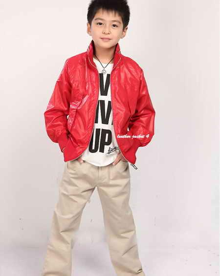 Lambskin kids leather moto jacket