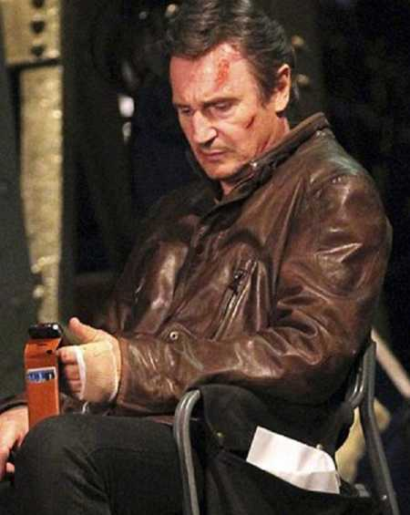 Liam Neeson Run All Night Brown Leather Jacket