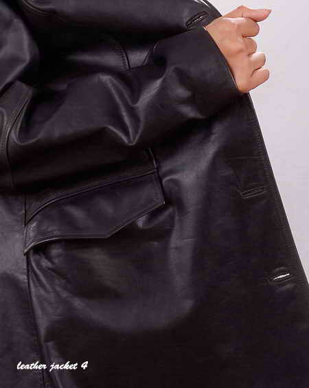 Long Leather Jacket for Womens