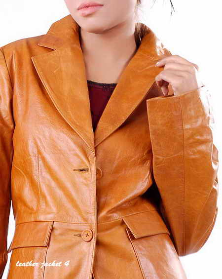Longline Leather Jacket