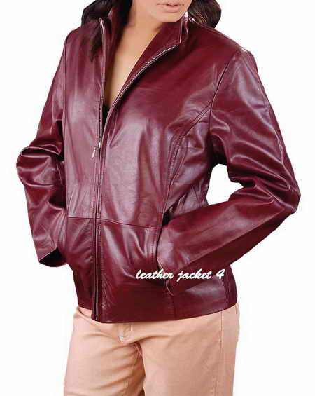 Womens Slim Fit Leather Jacket