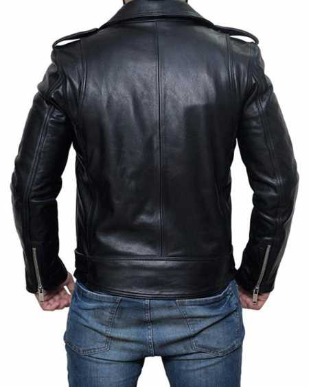 Manny Montana Lucifer Pops Black Leather Jacket
