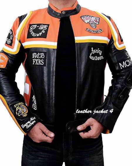 harley davidson and marlboro man leather jacket