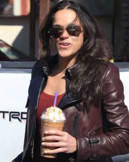 Michelle Rodriguez Brown Leather Jacket