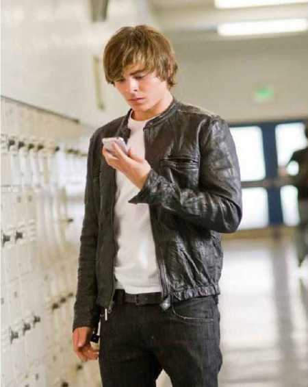 17 Again Zac Efron Leather Jacket