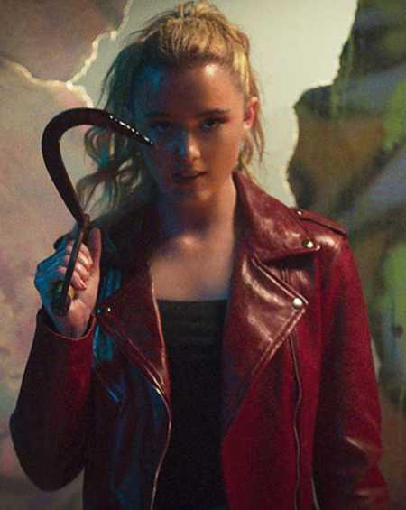 Kathryn Newton Freaky Millie Red Leather Jacket