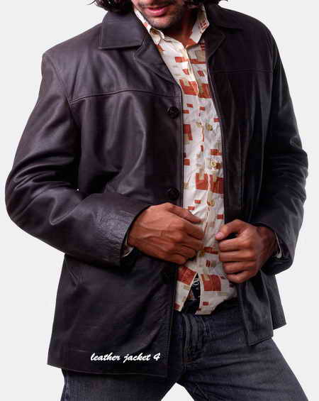 Leather Blazer for Mens