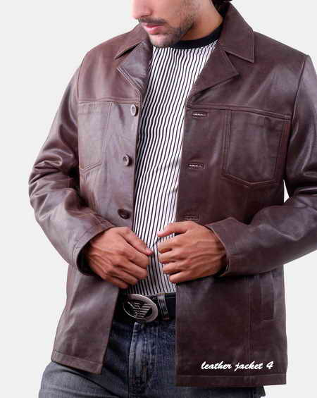 Mens Leather Blazer