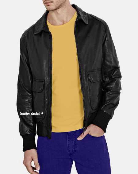 Slim Fit Leather Jacket