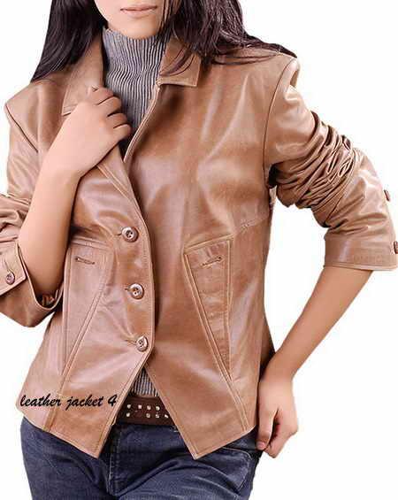 Lamb Leather Women Blazer