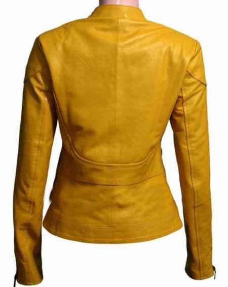 "Ninja Turtles Megan Fox ""April O'Neil"" Yellow Leather Jacket"