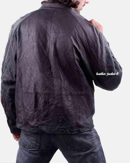 Men Washed Lamb Moto Jacket