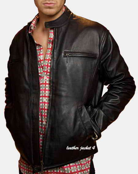Real leather moto jacket