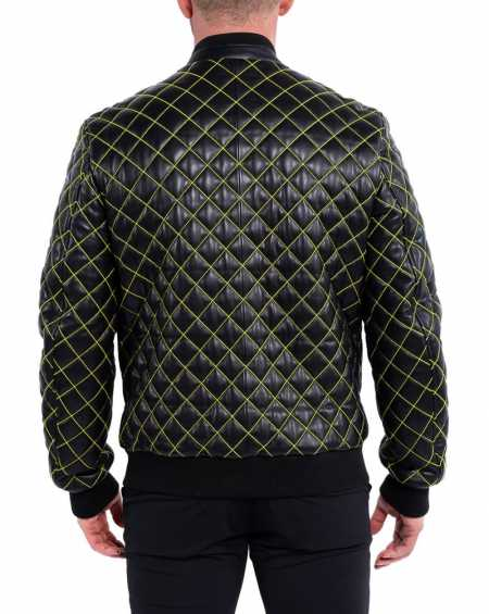 Quilted Mens Leather Jacket