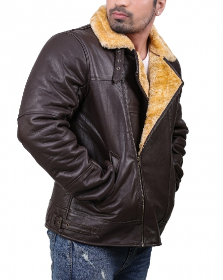 Aviator RAF Faux Fur Shearling Leather Jacket