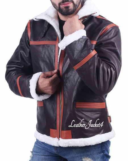 Leon Kennedy Resident Evil 4 Shearling B3 Jacket
