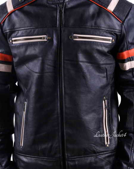 Cafe Racer Retro Jacket Black