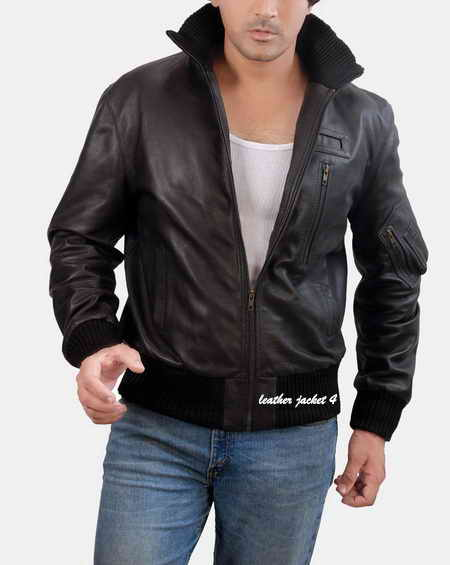 Rolph Leather Bomber Jacket