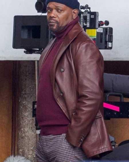 Shaft Samuel L Jackson Brown Leather Coat