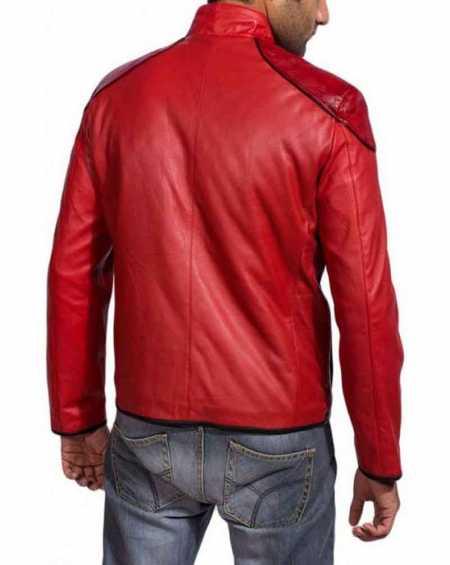 Shazam Red Cosplay Leather Jacket