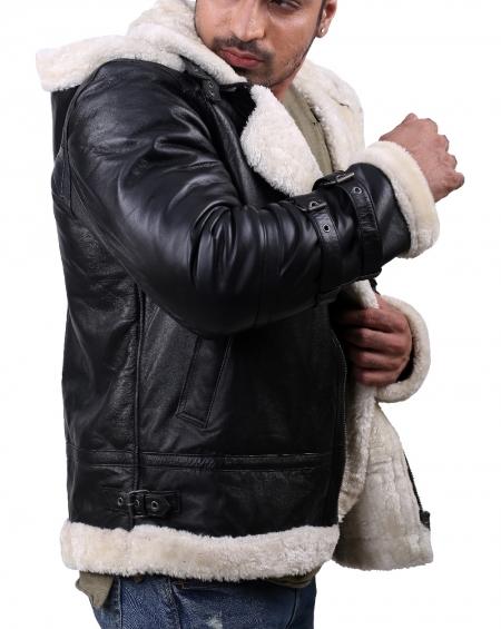 B3 Black hoodie jacket