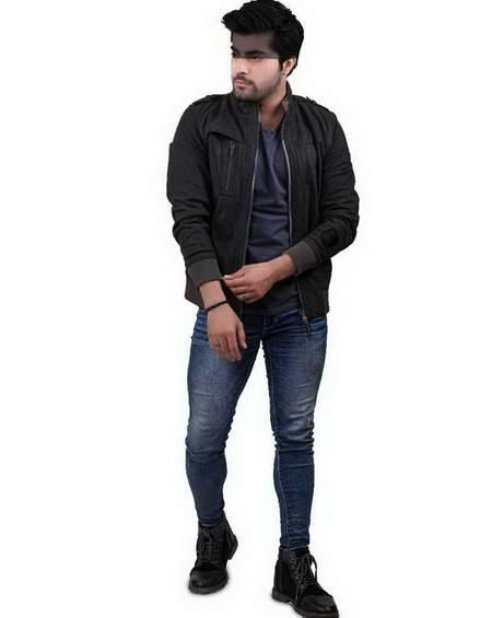 Mens Grey Suede Leather Jacket