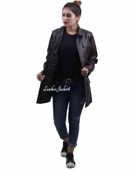 Swiss Long Leather Jacket
