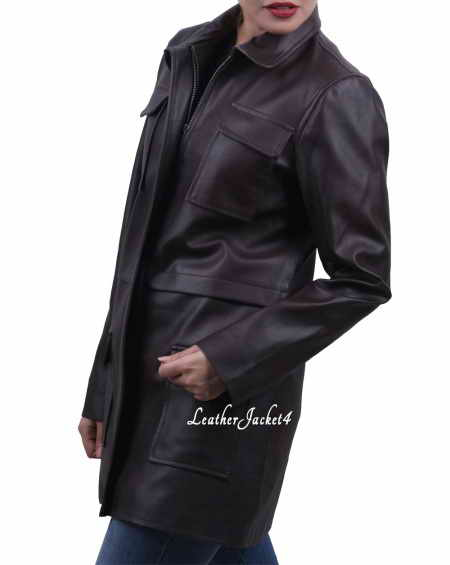 Swiss Long Leather Jacket