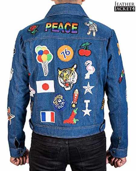 Tron Egerton Rocketman Leather Jacket