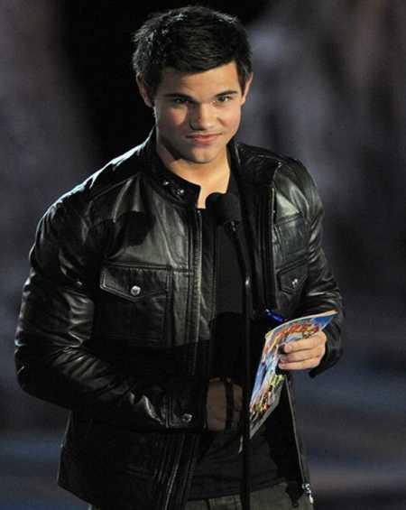 Taylor Lautner Black Leather Jacket