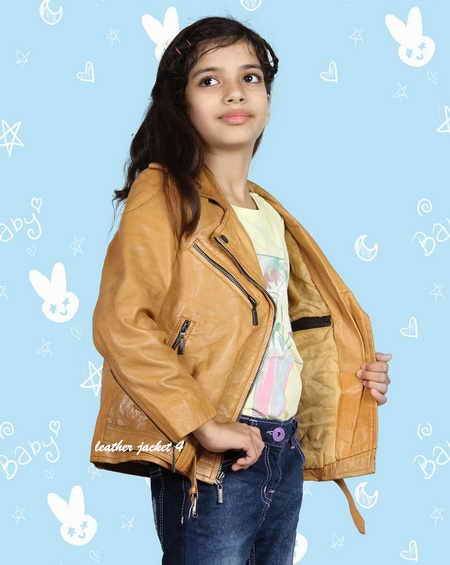 Teenage girls biker jacket