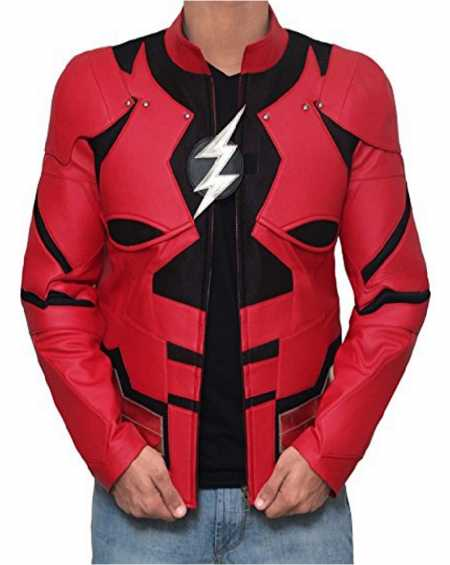The Flash Justice League Leather Jacket