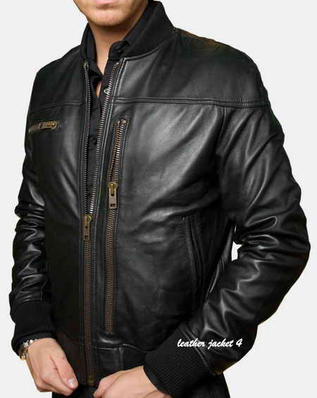 Toulon tumble light lamb skin leather jacket