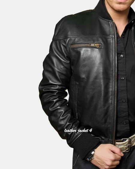 Toulon tumble light lamb skin leather jacket