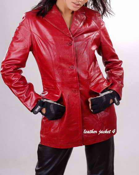 Womens Leather Coat Medium