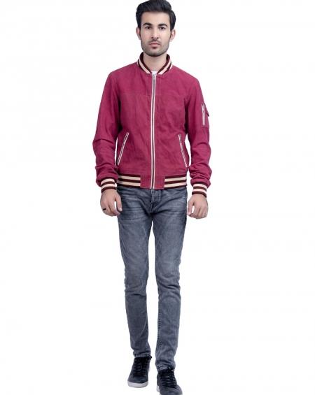 Grewia Mens Suede Leather Jacket like Velvet
