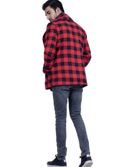 Unisex Blazer Style Plaid Jacket