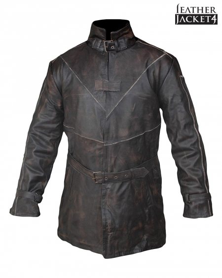 Watch Dogs Aiden Pearce Real Leather Jacket Coat