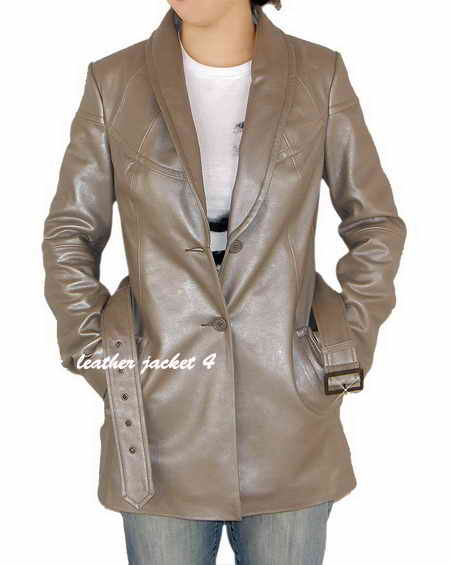 Metallic Leather Blazer