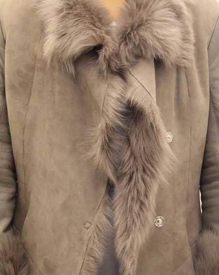 Womens Sheepskin Large Reversible Coat