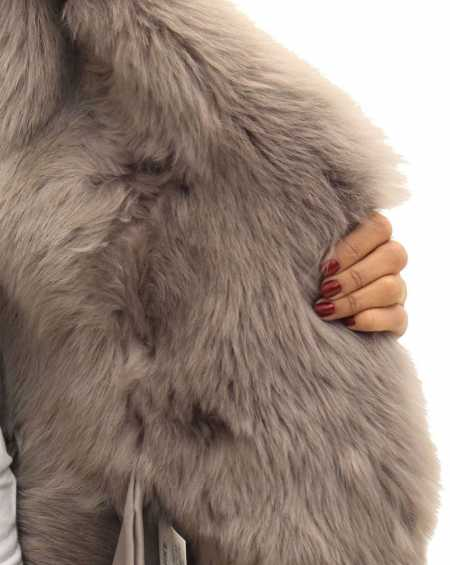 Womens Sheepskin Large Reversible Coat